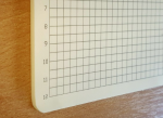 Laser Engraved Alumina Ceramic Plate, Intricate grid pattern with labels